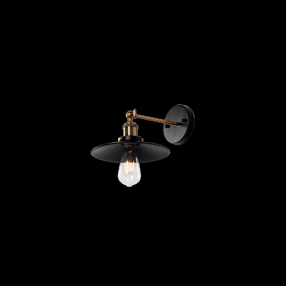 955DAMON1W DAMON Fali lámpa 1XE27 D230mm BLACK