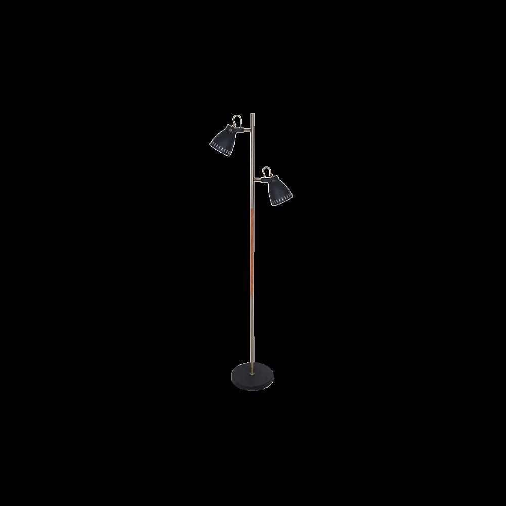 955TOM1F TOM Álló lámpa 2XE27 H1550mm BLACK