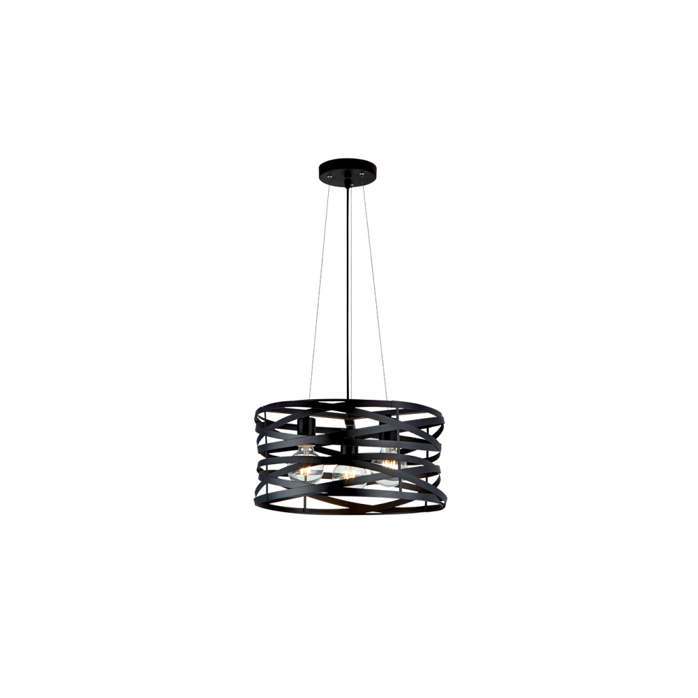 955HELIX3-BK HELIX Csillár 3XE27 D425mm BLACK