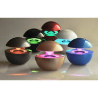 Led Ball Mini Bluetooth hangszóró LED világítással, Piros