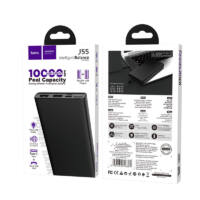 Hoco J55 Neoteric Power Bank 10000 mAh 2x USB, Fekete