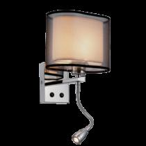 955MERY1WLED-CH MERY Fali lámpa 1XE27 +1WLED 4000K CHROME
