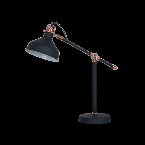 955JOHN1T/BK JOHN Asztali lámpa 1XE27 H600mm BLACK