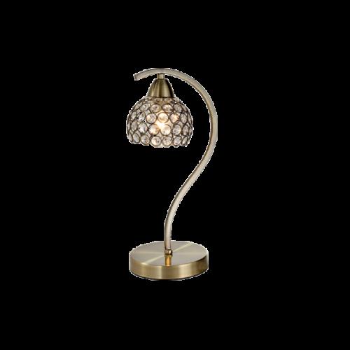 955LIZA1T/AB LIZA Asztali lámpa 1XE14 ANTIQUE BRASS