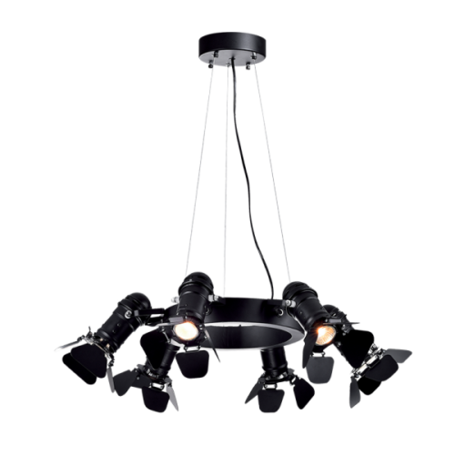 955CINEMA6 CINEMA Csillár 6XE27 D630mm BLACK