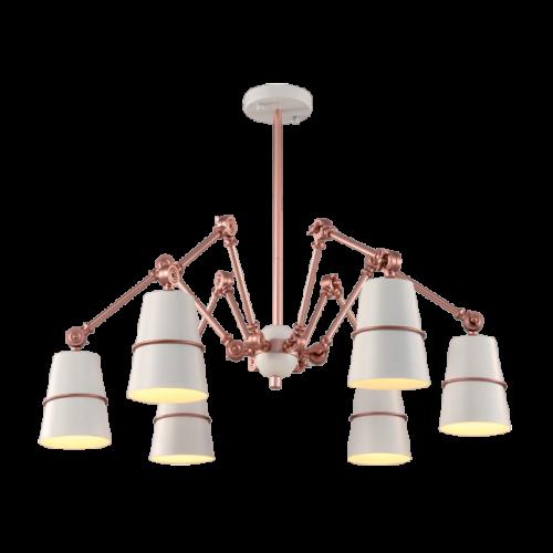 955SPIDER6-WH SPIDER Csillár 6XE27 WHITE