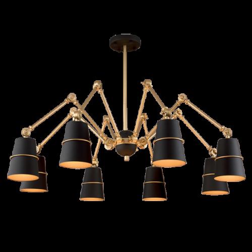 955SPIDER8-BK SPIDER Csillár 8XE27 BLACK