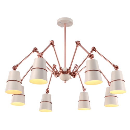 955SPIDER8-WH SPIDER Csillár 8XE27 WHITE
