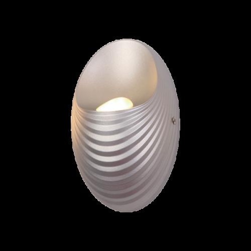 955SHELL1W-SL SHELL LED Fali lámpa 5W-4000K SILVER