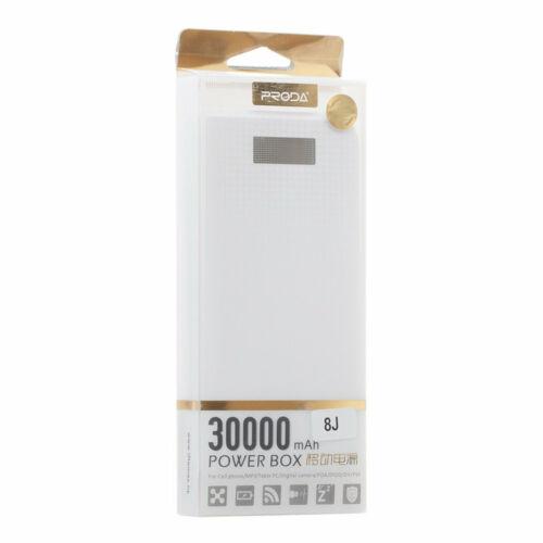 REMAX Power Bank - Proda PPL-14 - 30000mAh - Digitális kijelzővel - Fehér