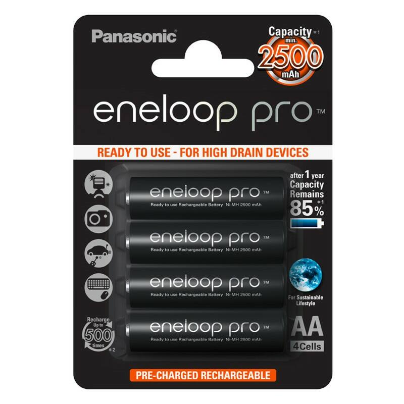 Újratölthető elem Panasonic Eneloop PRO R6/AA 2500mAh - 4db csomagonként