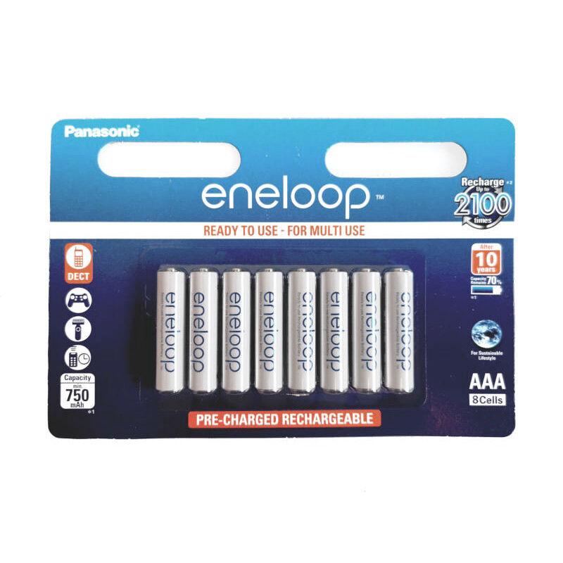 Újratölthető elem Panasonic Eneloop R03/AAA 750mAh - 8db csomagonként