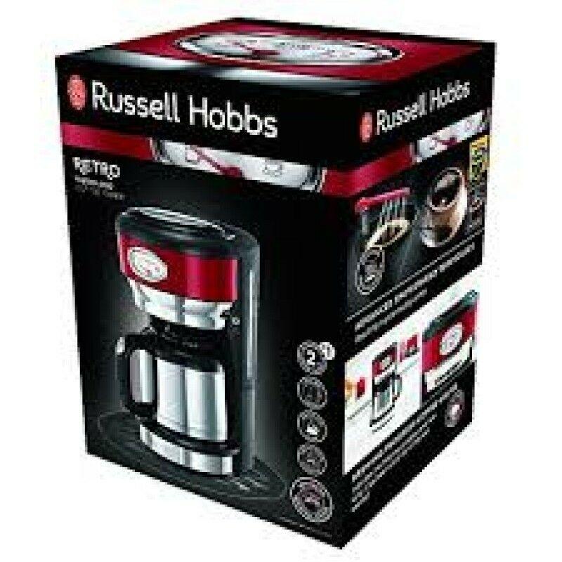 Russell Hobbs 21710 Retro piros termoszos kávéfőző | Extreme