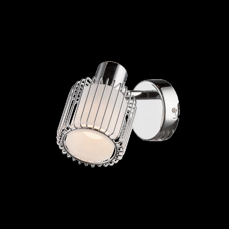 955ABBY1W ABBY Spot 1XE14 CHROME-WHITE GLASS