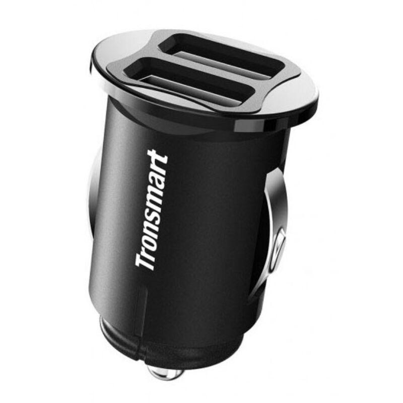 Tronsmart C24 Dual USB SmartMini Car Charger Autóstöltő, Fekete