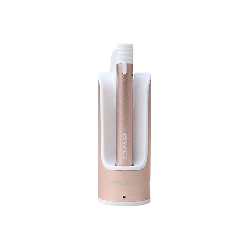 Awei Bluetooth Headset A835BL Powerbank bölcsővel, Rózsaarany