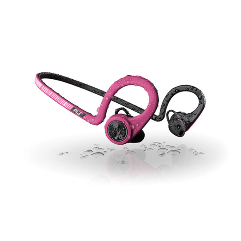 Bluetooth Sztereo Headset - Plantronics Backbeat Fit Fuchion, Pink