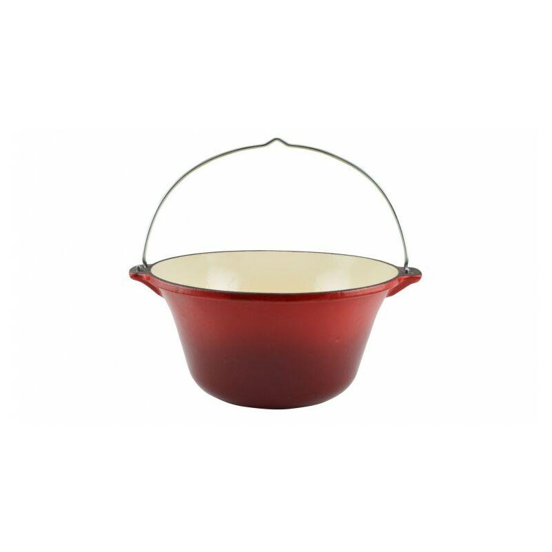 Perfect Home 12010 Zománcozott öntöttvas bogrács 7.2 literes piros
