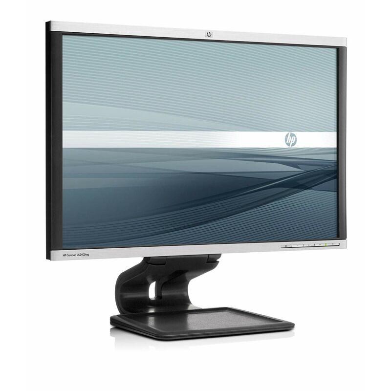 "24"" HP LA2405 LCD Monitor (1920x1200, WUXGA, Display Port, USB) - Fekete"