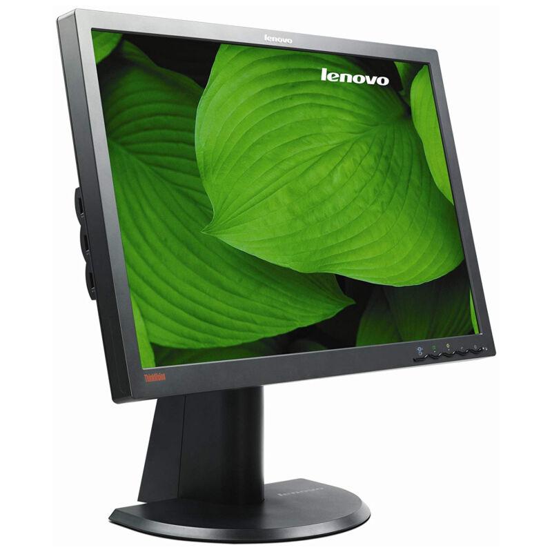 """24"""" Lenovo LT2452PWC LED Monitor (1920x1200, WUXGA, E-IPS, DVI, DP, VGA, USB) - Fekete"""