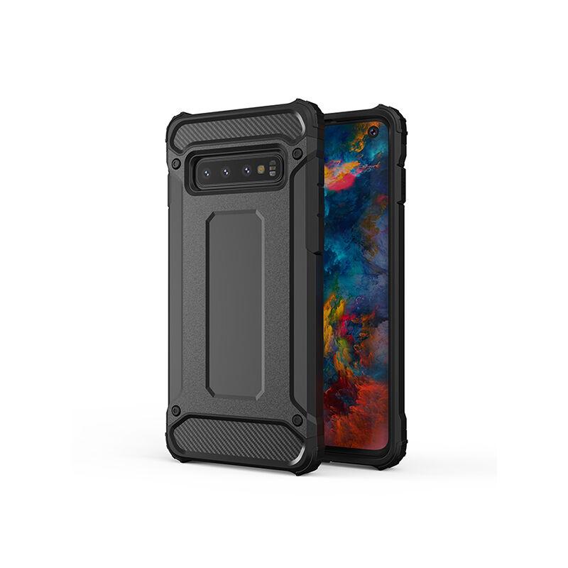 Armor Karbon Hátlap Tok, Samsung A505 Galaxy A50 Fekete