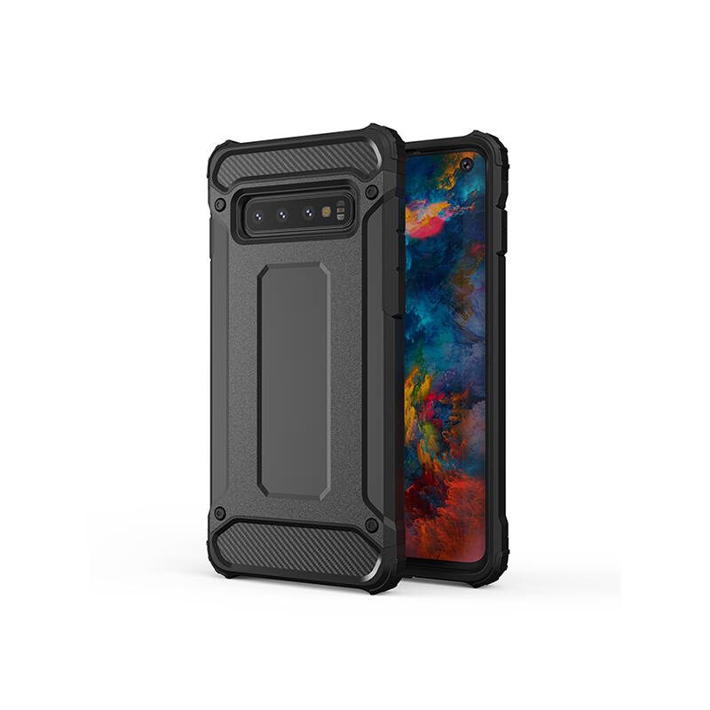 Armor Karbon Hátlap Tok, Samsung G988 Galaxy S20 Ultra Fekete